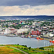 Cityscape Of Saint John's From Signal Hill Poster