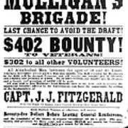 Civil War: Broadside, 1863 Poster