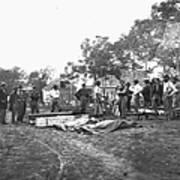 Civil War Burial, 1864 Poster
