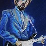Clapton Jams Blue Poster by Emily Michaud