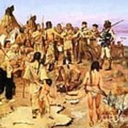 Clark Meets Northwest Indians Poster