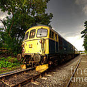 Class 33 At Bishop Auckland Poster