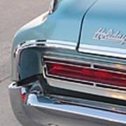 Classic Car Aqua Holiday Poster