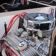 Classic Car Engine Poster