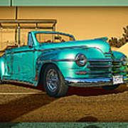 Classic Teal Convertible Poster