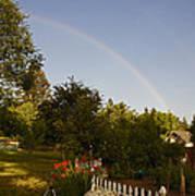 Clear Sky Rainbow Poster