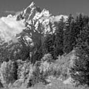 Clearing Storm On Grand Teton  Poster