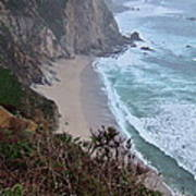 Cliffs And Surf On The California Coast Poster