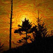 Clingmans Dome Sun Spot Poster