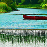 Clinton Canoes Poster by Artistic Photos