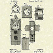 Clock Cover 1887 Patent Art Poster