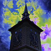 Clock Tower Night Poster