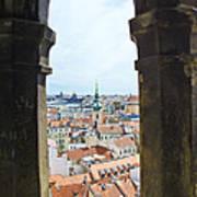 Clock Tower View - Prague Poster
