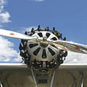 Close-up Of Engine On Antique Seaplane Canvas Poster Print Poster
