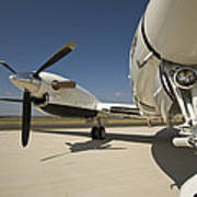 Close Up Of Turbo-prop Aircraft Poster