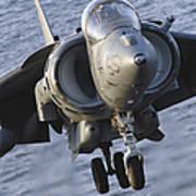 Close-up View Of An Av-8b Harrier II Poster