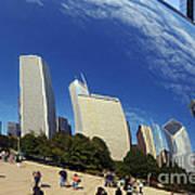 Cloud Gate Millenium Park Chicago Poster