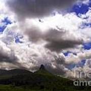 Clouded Hills At Nasik India Poster