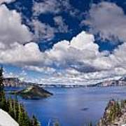 Clouds Above Crater Lake Poster