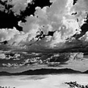 Clouds Above White Sands Poster