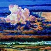 Clouds Over Country Road Poster