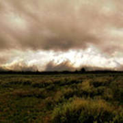 Clouds Over The Tetons Poster