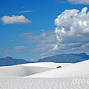 Clouds Over The White Sands Poster