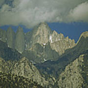 Clouds Shadow Rocky Mountain Peaks Poster