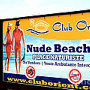 Club Orient St. Martin Sint Maarten Poster