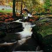 Co Wicklow, Ireland Waterfalll Near Poster