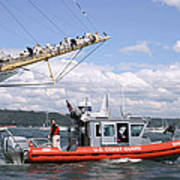 Coast Guard With Tall Ships Poster