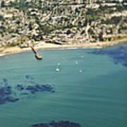 Coastal Community And Sailboats Poster by Eddy Joaquim