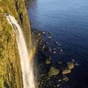 Coastal Waterfall Poster