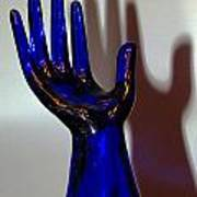 Cobalt Hand Poster