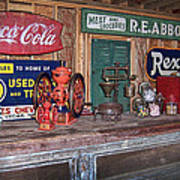 Coca Cola - Rexall - Ok Used Tires Signs And Other Antiques Poster