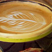 Coffee Art Leaf Poster