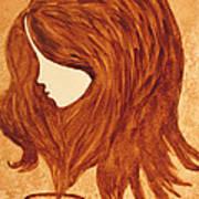Coffee Break Coffee Painting Poster