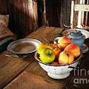 Colander Of Fruit Poster