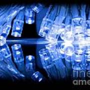 Cold Blue Led Lights Closeup Poster