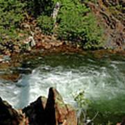 Cold Creek Waters Glen Alpine Creek Poster