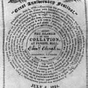 Collation Ticket, 1824 Poster
