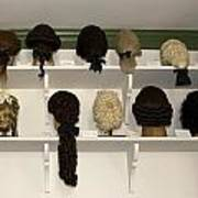 Colonial Wigs Display Poster
