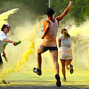 Color Run Happy Poster