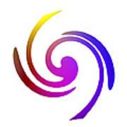Color Spiral Poster