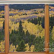 Colorado Autumn Picture Window Frame Art Photos Poster