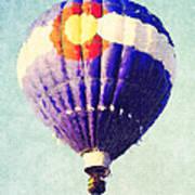 Colorado Flag Hot Air Balloon Poster
