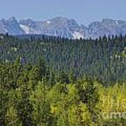 Colorado Rocky Mountain Continental Divide Autumn View Poster