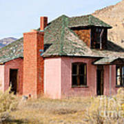 Colorful Abandoned Home In Dying Farm Town Poster