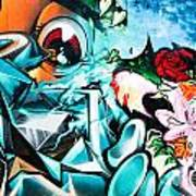 Colorful Abstract Graffiti Wall Poster