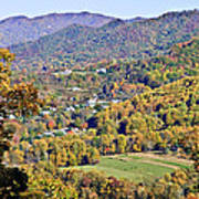 Colorful Autumn Valley Poster